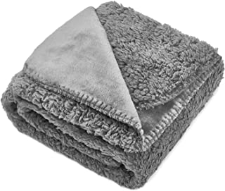 Topblan Waterproof Fluffy Fleece Dog Blanket Soft and Warm Pet Throw for Dogs & Cats, Double-Sided Premium and Plush Rever...