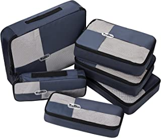 TripDock 6 Set Packing Cubes- Travel Luggage Organizers - Navyblue