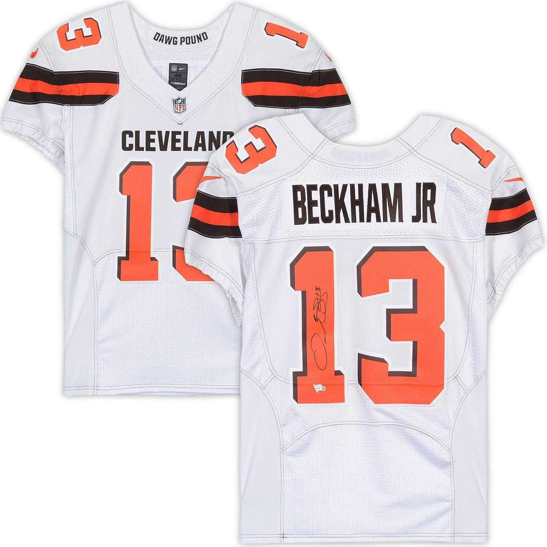 Odell Beckham Jr. Cleveland Browns Autographed White Nike Elite ...