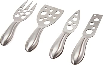 Prodyne Little Holes Cheese Knives, Set of 4, Silver