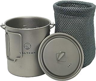 Valtcan 750ml Titanium Pot Mug Handle and Lid 25.4 oz