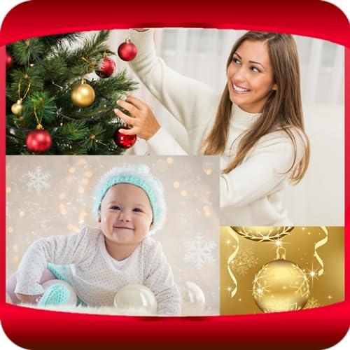 Weihnachtsschmuck-Collage