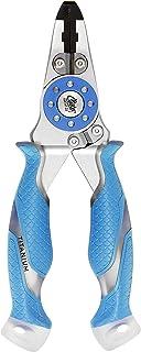 Cuda 7.5-Inch Mono/Braid Fishing Pliers and Wire Cutters, Blue, Medium