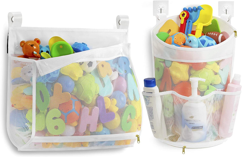 Manufacturer OFFicial shop Mesh Bath Toy Organizer with YKK Zipper Ways Super intense SALE to Hang Multiple