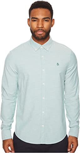 Original Penguin - New Long Sleeve Oxford Stretch Shirt
