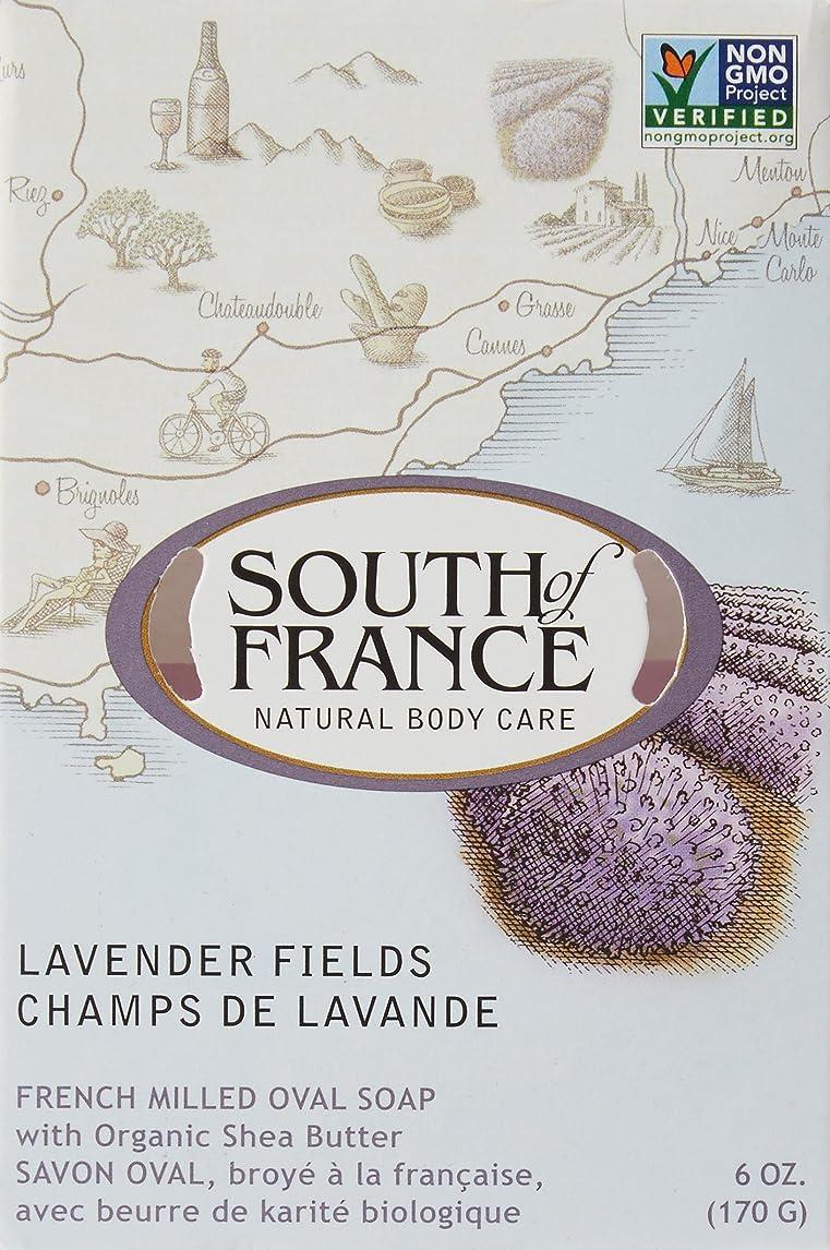 プレート投げ捨てるSouth of France - フランスの製粉された野菜棒石鹸のラベンダーは守備につく - 6ポンド