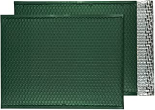 "Blake Matte Padded Bubble Mailer Envelopes Pack of 50 12 3/4"" x 17 3/4"" Alpine Green"