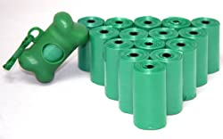 Good Habit by Best Pet Supplies - 15 Micron Thick Waste Poop Bags Refill Rolls with Dispenser - Unscented, Green, 240 Bags