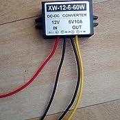 DC12V auf 6V DC-Abw/ärtswandler 2A 12W Spannungswandler-Adapterregler
