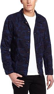Veste bleue à motif camouflage