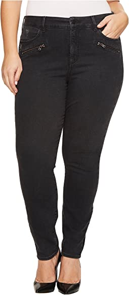 NYDJ Plus Size Plus Size Alina Legging Jeans with Zippers in Future Fit Denim in Campaign