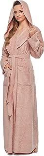 Womens Princess Robe Ankle Long Hooded Silky Light Turkish Cotton Bathrobe