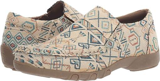 Tan Aztec Stripe Fabric