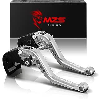 MZS Short Levers Brake Clutch CNC Silver compatible Kawasaki Z800 Z800E ZR800 2013 2014 2015 2016