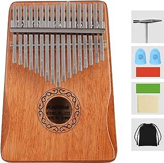 TOPDÉCORÉ Kalimba 17 Clés Pouce Doigt Piano Portable Instrument de Musique avec Accessoires,Kalimba instrument avec tuning...