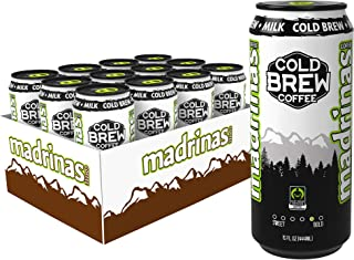 Madrinas Coffee Fair Trade Organic Cold Brew Plus Milk, 15 Fl Oz (Pack Of 12)