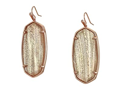 Kendra Scott Faceted Elle Earrings (Rose Gold/Gold Dusted/Pink Illusion) Earring