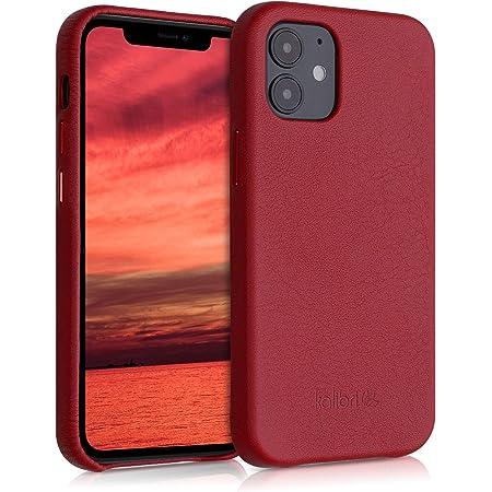 kalibri Carcasa Compatible con Apple iPhone 12 Mini - Funda de Cuero para móvil - Cover Trasero en Rojo
