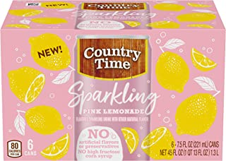 Country Time Sparkling Pink Lemonade Drink Mix (7.5 oz Cans, 6 Count)