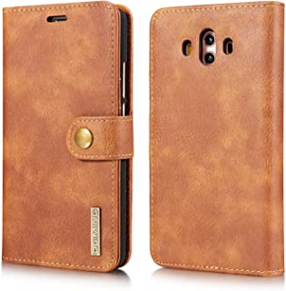 Protect Huawei Mate 10 Wallet Phone Cases for Huawei Mate 10 Bags Protective Leather Phone case for Huawei Mate 10 Flip Cover for Fashion (Color : Brown)