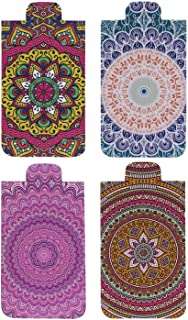 Heartzy Set of 4 Cute Chakra Mandala Magnetic Bookmark Combo | Gift for Booklovers