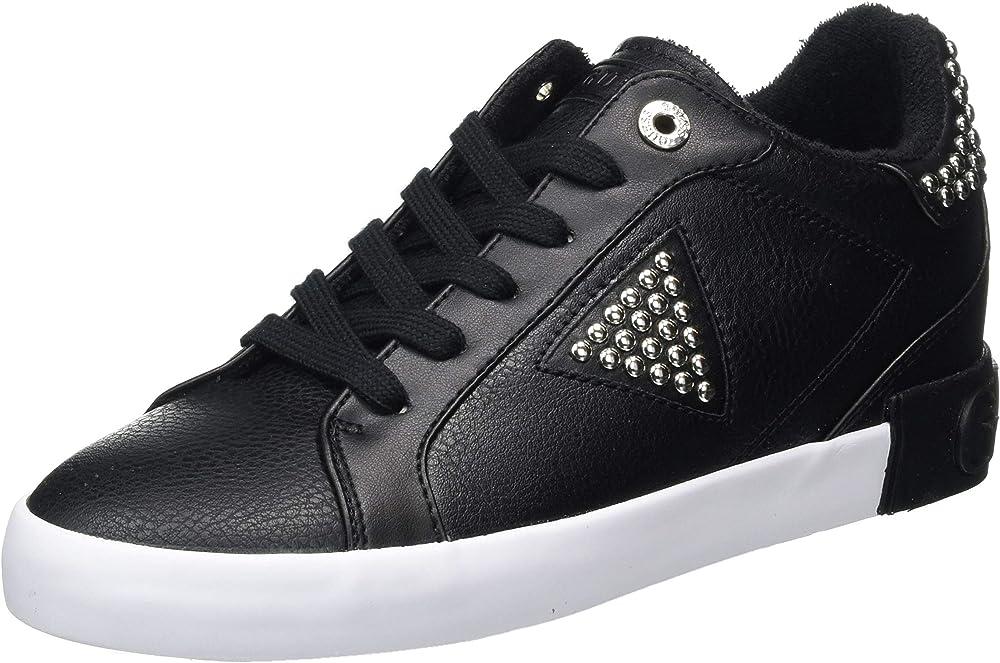 Guess,scarpe con lacci donna,sneaker casual da donna,in pelle sintetica FL7PANELE12