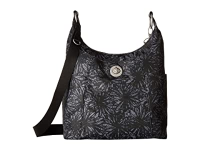 Baggallini International Triple Threat Basel Hobo (Onyx Floral) Hobo Handbags