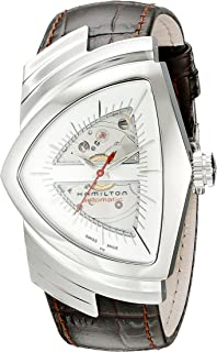Hamilton Mens H24515551 Ventura Analog Display Automatic Self Wind Brown Watch