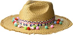 0d940c9dae65c Betsey Johnson. Shake Your Pom Poms Panama Hat