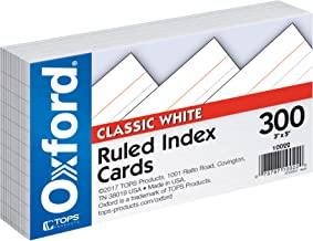 """Oxford Ruled Index Cards, 3"""" x 5"""", White, 300 pack (10022)"""