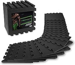 AthleticPro vloerbeschermingsmat fitness [31x31cm] - 18 extra dikke vloermatten [20% meer bescherming] - antislip bescherm...