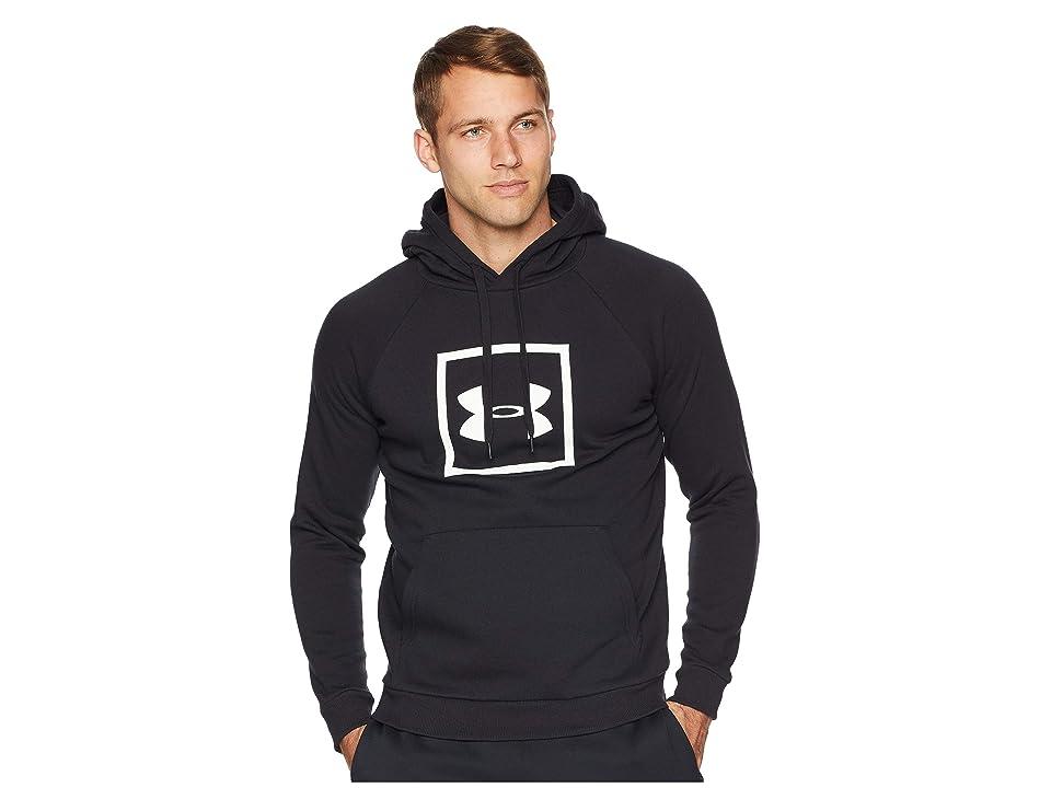Under Armour Rival Fleece Logo Hoodie (Black/White) Men