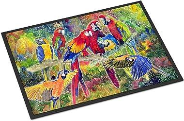 "Caroline's Treasures Parrots Indoor or Outdoor Mat, 18"" x 27"", Multicolor"