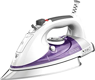 "BLACK+DECKER Professional Steam Iron with Extra Large Soleplate, Purple, IR1350S, 13.2"" x 16.3"" x 7"""
