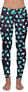 Women's Wild Neon Leggings - Colorful Patterned 80's Leggings Workout Leggings Female