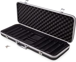 Brybelly Poker 500 ct. Chip Case | Includes ABS Case with Room for Two Decks, and Specialized Chips | Portable, Sturdy Case Perfect for Texas Hold 'Em, Parties, and More
