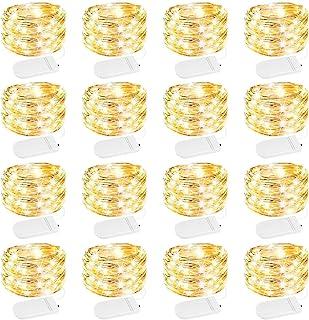 Engilen Fairy Lights 16 Pack 7.2 Feet 20 LED Copper Wire String Lights Decorative Lights Battery Operated, DIY Home,Vase,J...