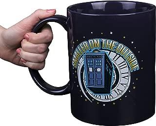 Doctor Who GIANT Ceramic Coffee Mug, Large 64 oz - Collectible TARDIS Smaller On The Outside Design - Big and HUGE!