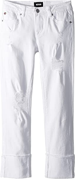 Hudson Kids - Jessa Skinny Roll Cuff Crop in White (Big Kids)