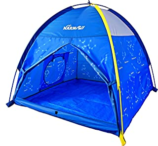 NARMAY Play Tent Twinkle Zodiac Dome Tent for Kids Indoor / Outdoor Fun - 48 x 48 x 40 inch