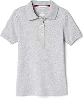 Girls' Short Sleeve Picot Collar Polo Shirt (Standard & Plus)