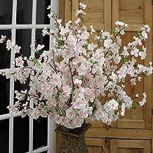 Larksilk Artificial Pink Cherry Blossoms for Home Decor, Wedding Arrangements, Party Decor, DIY Project(Four 36 inch Cherry Blossoms)
