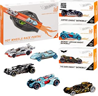 Hot Wheels BatRacer Batmobile car {id} Collection + Batman Series Arkham Asylum + Justice League & Dark Knight + Race Portal Level Up Digital Tack 4 Items