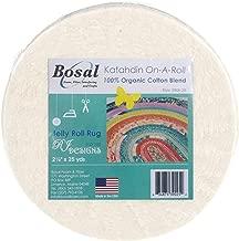 Bosal Katahdin Batting On-A-Roll, Summer 3 oz, 2-1/2 inch by 25 yards, 100% Organic Cotton (1 Roll),Off-White
