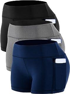 Cadmus kvinnors stretch träning biker-shorts med ficka