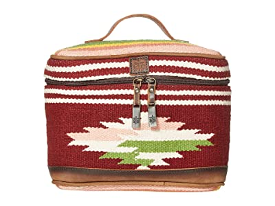 STS Ranchwear Buffalo Girl Serape Train Case (Maroon/Pink/Green) Bags