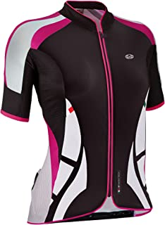 GSG Cristallo - Women´s Cycling T-Shirt - With Zip - Lycra - Magenta