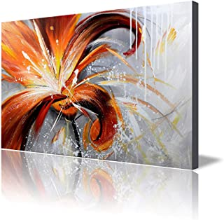 ARTLAND 24x36-inch 'Fall Story' Gallery-Wrapped Hand-Painted Canvas Flower Wall Art