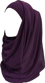 Solid Color Thick Chiffon Muslim Hijab Long Scarf