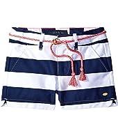 Tommy Hilfiger Kids - Rugby Stripe Shorts with Rope Belt (Little Kids)